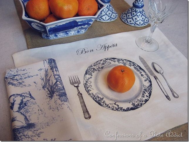 DIY frenchy tablescape placemat