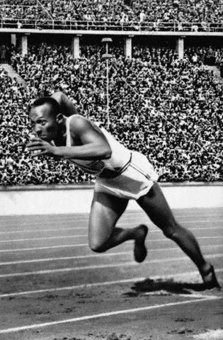 Jesse Owens at the 1936 Berlin Olympic Games by Black History Album,The most courageous athlete that ever lived.