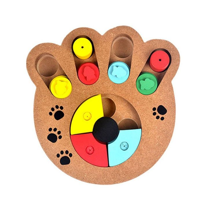 SungHye Interactive Pet Toy Dogs Cats Food Treated Wooden Eco-friendly Educational Multifunction Feeder Bone Paw Puzzle Free Shipping (claw) >>> Click image for more details. #CatToys