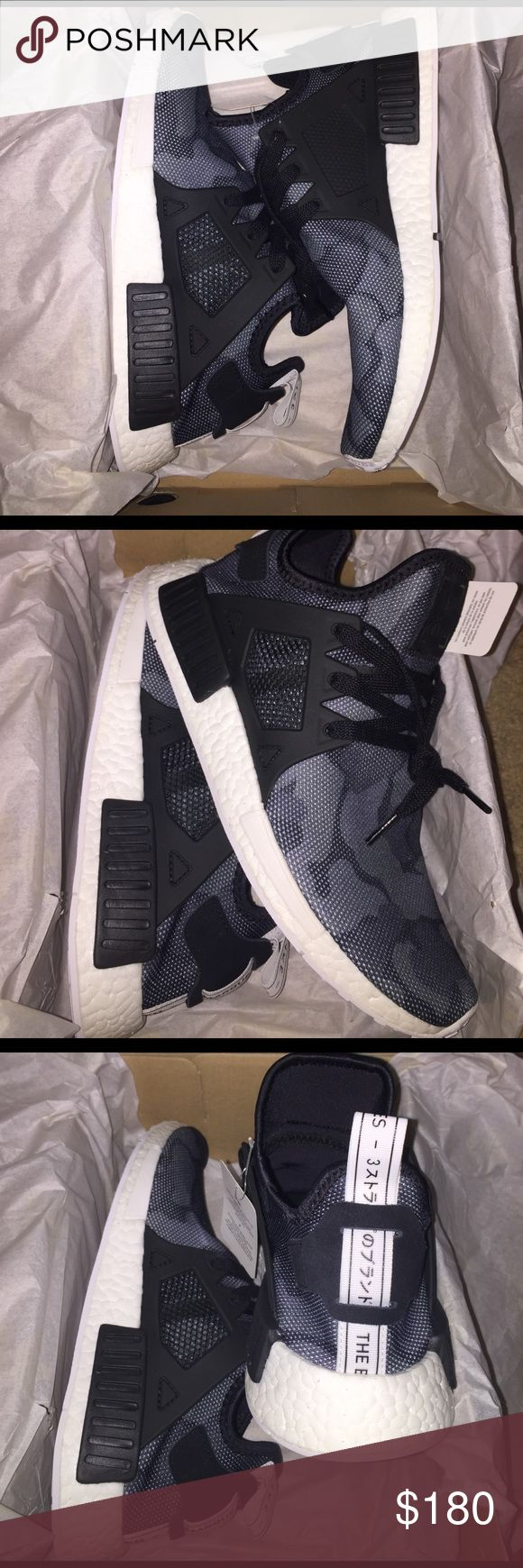 Brand new NMD XR1 Mens size 9.5 Brand new camo NMD XR1 Mens size 9.5. Black and white Adidas Shoes Sneakers