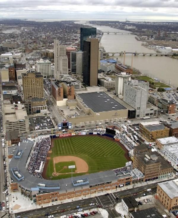 A picture of the Mud Hens Stadium in downtown Toledo, Ohio. One season, we went to every home game they had there.