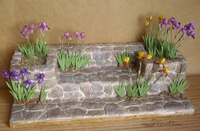 Miniatures et maisons de poupees : jardins de saison