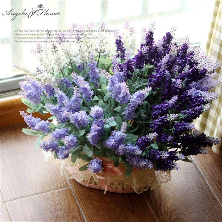 1 шт. 10 голов искусственный цветок романтики шелк лаванды свадебные украшения для дома garden party декор