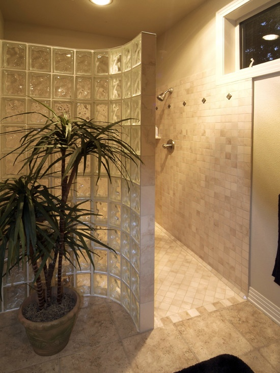 17 best images about doorless showers on pinterest walk for Walk in fireplace designs