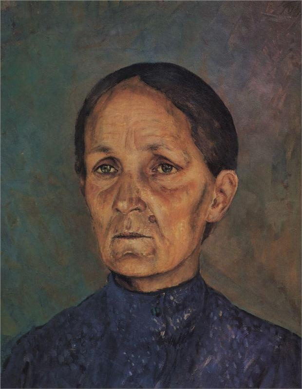 Portrait of A.P.Petrovoy-Vodkin, artist's mother, 1909  Kuzma Petrov-Vodkin