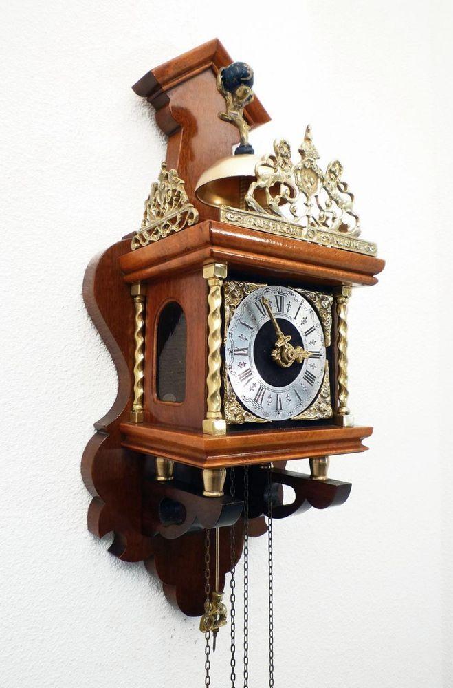 Beautiful Vintage Wuba Dutch Zaanse Wall Clock From The