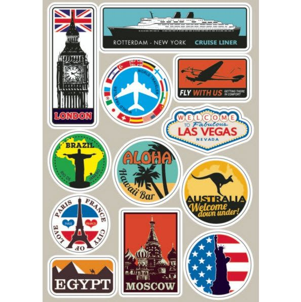Luggage Stickers Travel Suitcase Decals Suitcase Stickers Luggage Stickers Travel Stickers