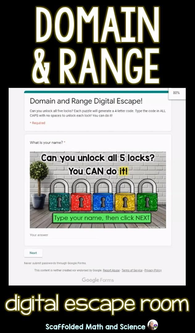 Domain And Range Digital Escape Puzzle Answer Key - DONIMAIN