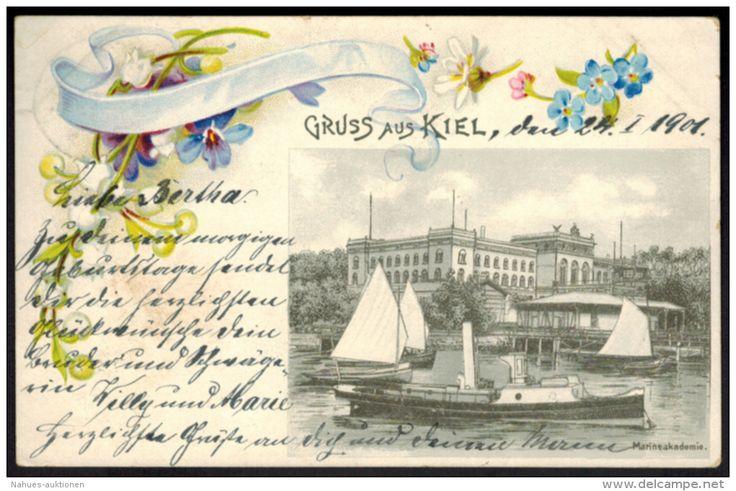 Ansichtskarte Kiel Marineakademie Schleswig Holstein 1901 nach Berlin