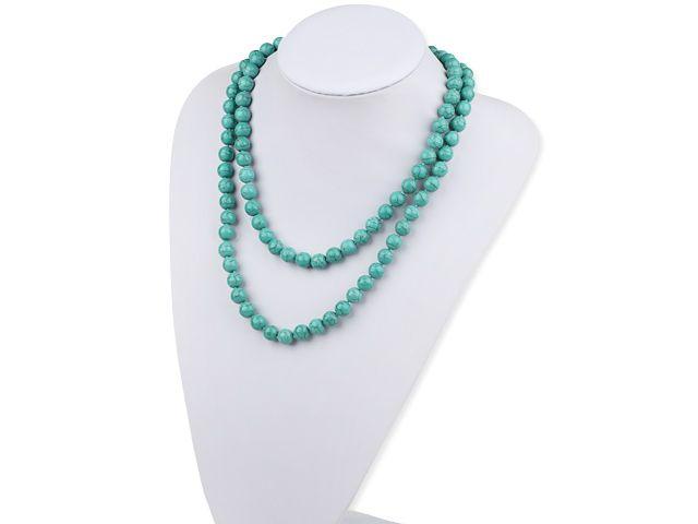 Dlhý náhrdelník tyrkys