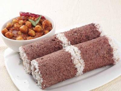 Kerala Style Ragi Puttu Recipe (Steamed Rice Cakes with Coconut)