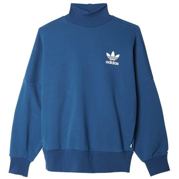 adidas originals Sweatshirt ($58) ❤ liked on Polyvore featuring tops, hoodies, sweatshirts, sweaters, jumper, blue sweatshirt, adidas originals sweatshirt, steelers sweatshirt, adidas originals and blue top