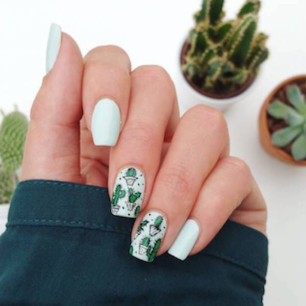 succulent-nails-6 | Women Are Gluing Succulents To Their Nails In Latest Insane Manicure Trend