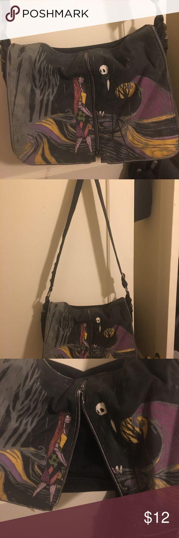 Nightmare before Christmas messenger bag Disney's nightmare before Christmas messenger bag, medium sized bag, lightly used Disney Bags Backpacks
