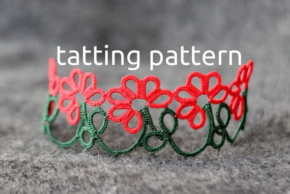 Gerbera edging - shuttle tatting pattern in PDF by littleblacklace, suitable for…