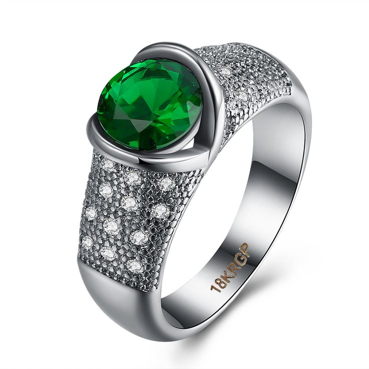 XU Classic Popular Green Zircon Rings Women's Delicate and Fashionable Bright Hot Wholesale Jewelry Dance Party R971