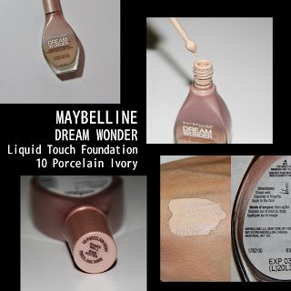 MichelaIsMyName: MAYBELLINE DREAM WONDER Liquid Touch Foundation 10...
