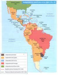 Al mismo tiempo que luchaban contra los franceses, los territorios de América, que pertenecían a España empiezan a independizarse para formar nuevas naciones.