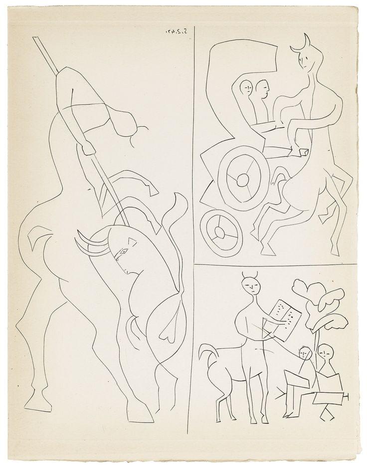 Pablo Picasso – Ramòn Reventòs DOS CONTES. PARIS-BARCELONE, EDITORIAL ALBOR, 1947. Source: Sotheby's.com