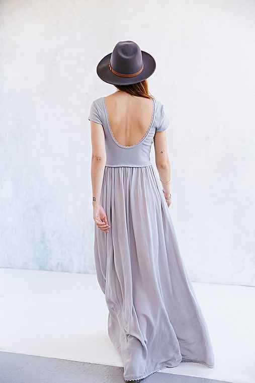 Ecote Tumbleweed Knit-Mix Maxi Dress