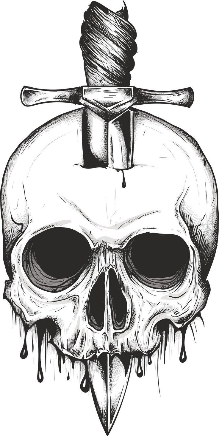 Skull Sword svg vector, digital clipart , t-shirt design , instant download svg, png, jpeg, cdr, ai