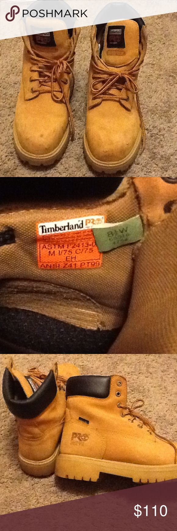 Timberland pro series steel toe, like new This boots are shock proof, Waterproof, oil resistant, steel toe boots. Real deal!! Only worn twice! Timberland Shoes Boots