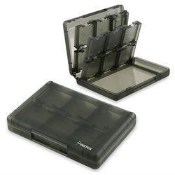 eForCity 28-in-1 Game Card Case compatible with Nintendo NEW 3DS / 3DS / DSi / DSi XL / DSi LL / DS / DS Lite Smoke