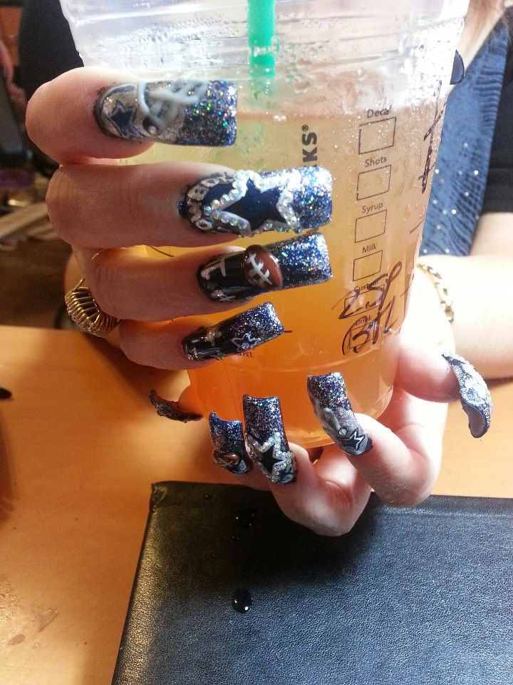 13 best dallas cowboys nail art made by someone else images on this are my cowboys nails i have on as i post aguirre martha 923 prinsesfo Gallery