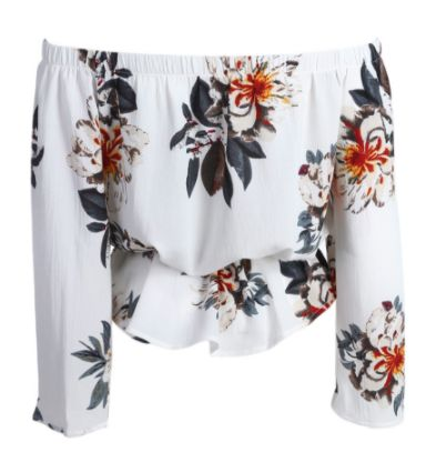 Floral Flock | BACK |  Available in: White  R280.00 | S | M | L |