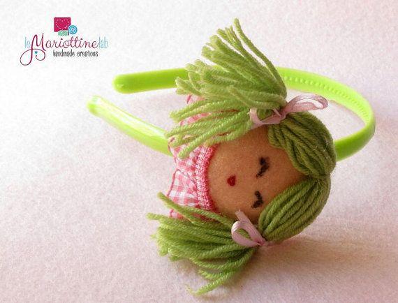 Feltt and Wool Baby Girl Hairband di LeMariottineLab su Etsy