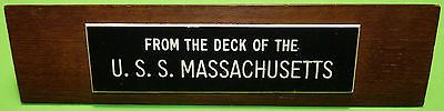 USS Massachusetts Battleship US Navy WW2 US Military Ship Deck Wood USN Relic