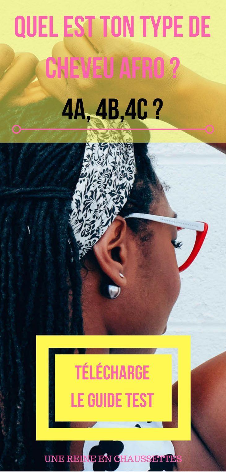Tu veux savoir si tu es 4A, 4B ou bien 3C ou 4C ? Lis l'article et télécharge le Guide - test pour savoir quel est ton type de cheveu AFRO.