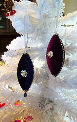 Crown Jewels Crystals Rhinestone Holiday Christmas Handcrafted Ornaments - Set 3 $23.99