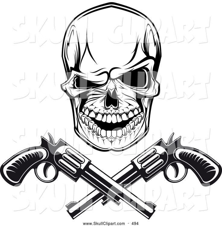 Drawings Easy Skull With Guns: 33 Best Images About Skull Drawings On Pinterest