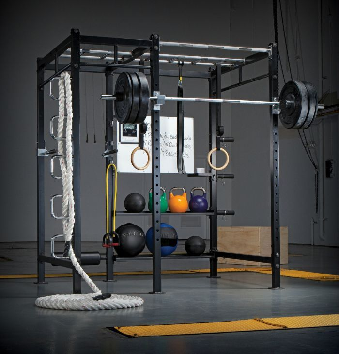 15 Home Gyms Worth Sweating In: Need some help with motivation? A gorgeous, stylish home gym will make you want to spend hours sweating in there every week. #GymDIY