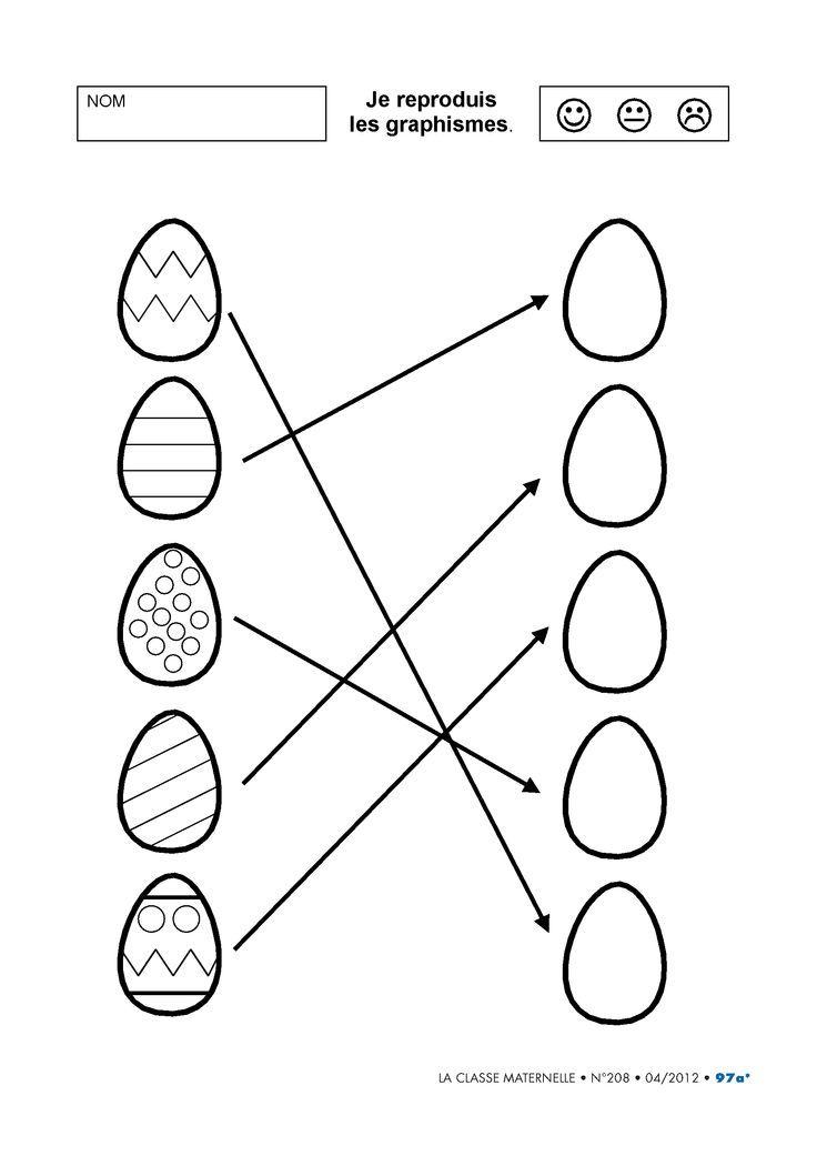6 fiches en découverte du monde autour de l'œuf pour la maternelle.