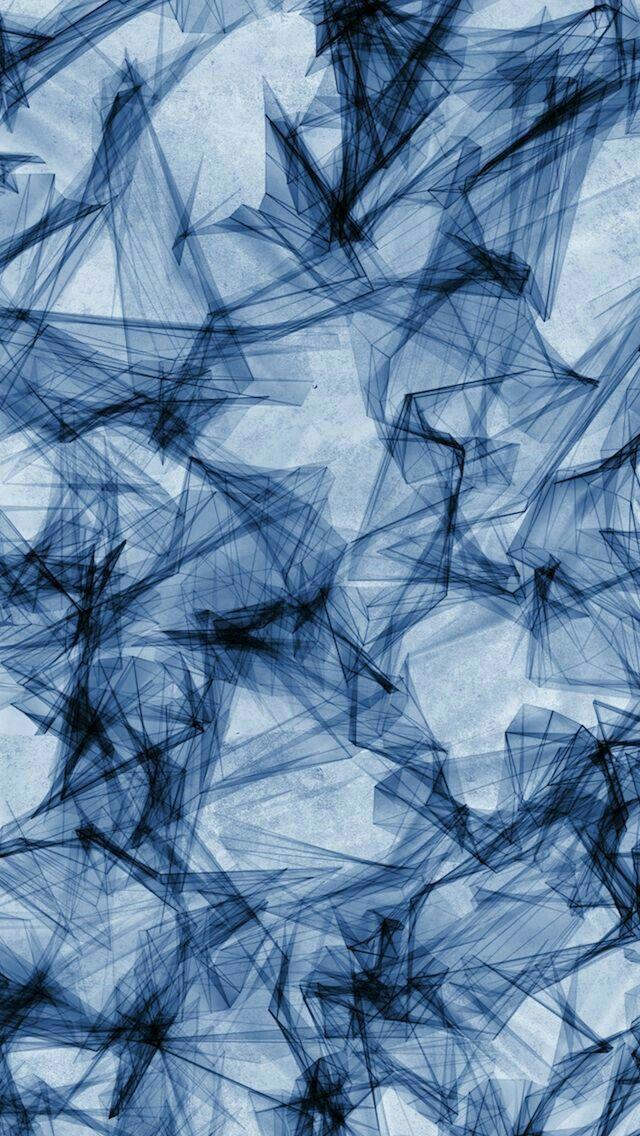 geometric, marble, water blue - phone wallpaper