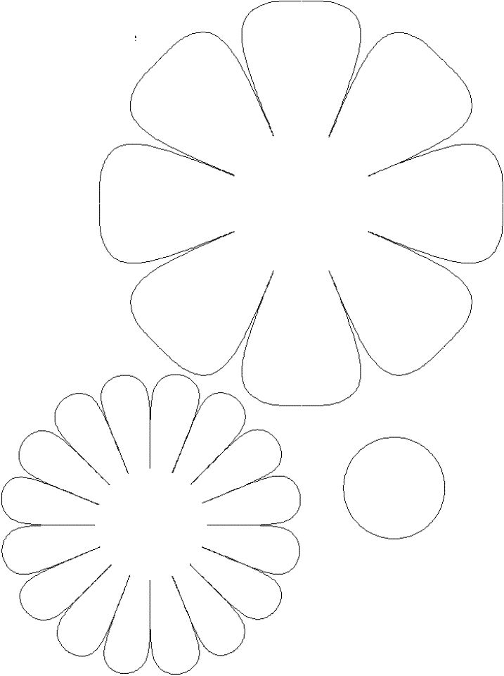 Открытки большие, шаблон для открытки ромашки