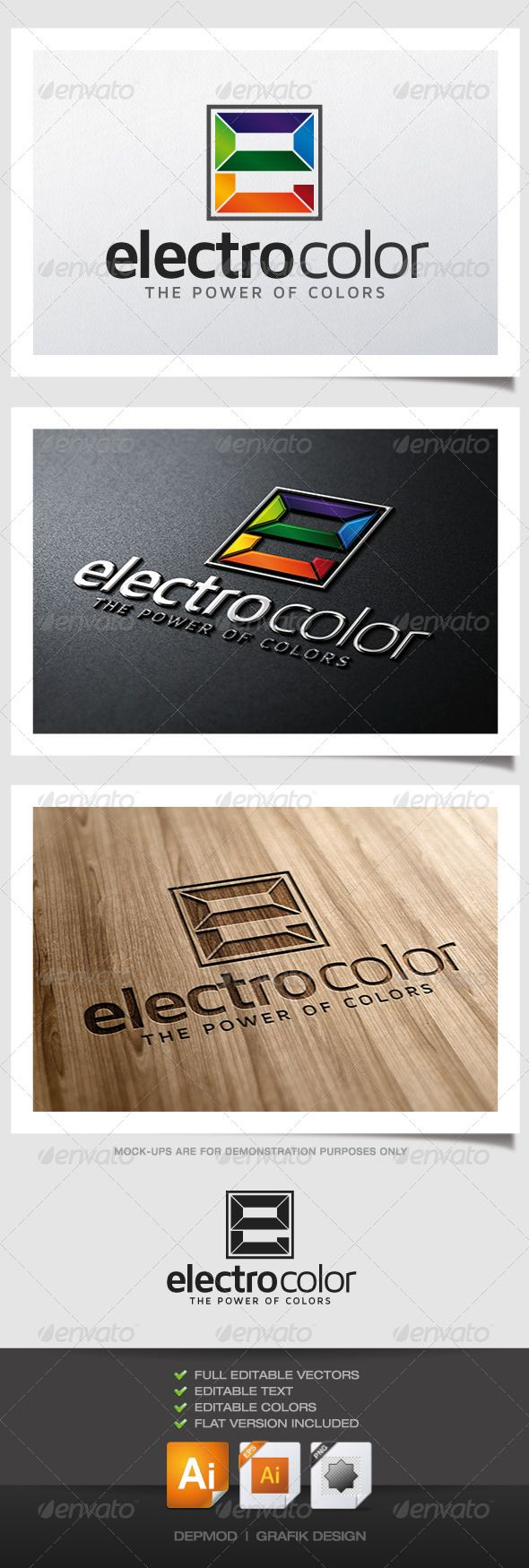Electro Color Logo (Letters)