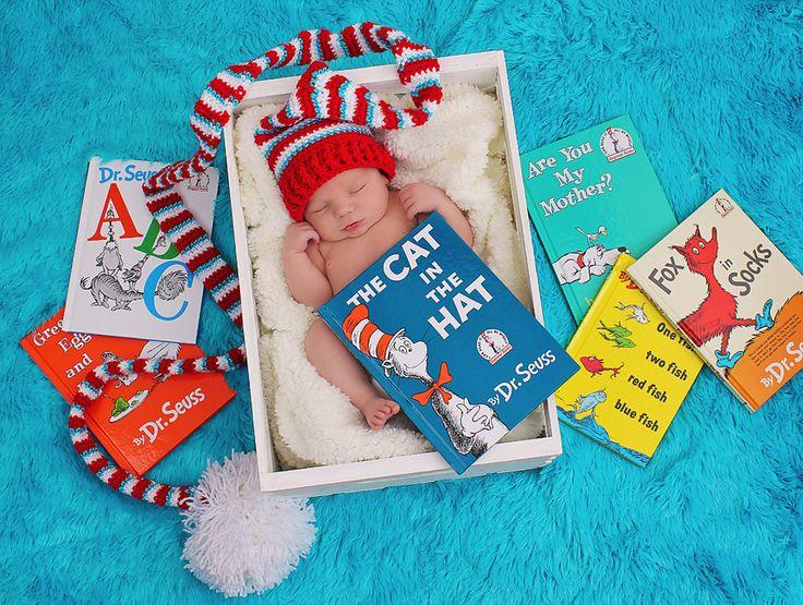 Newborn Dr Seuss, Newborn Photography Ideas © Deborah Chambers Photography