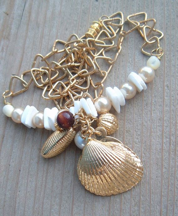 Seashell Charm Bracelet: 717 Best Images About Seashell Jewelry II On Pinterest