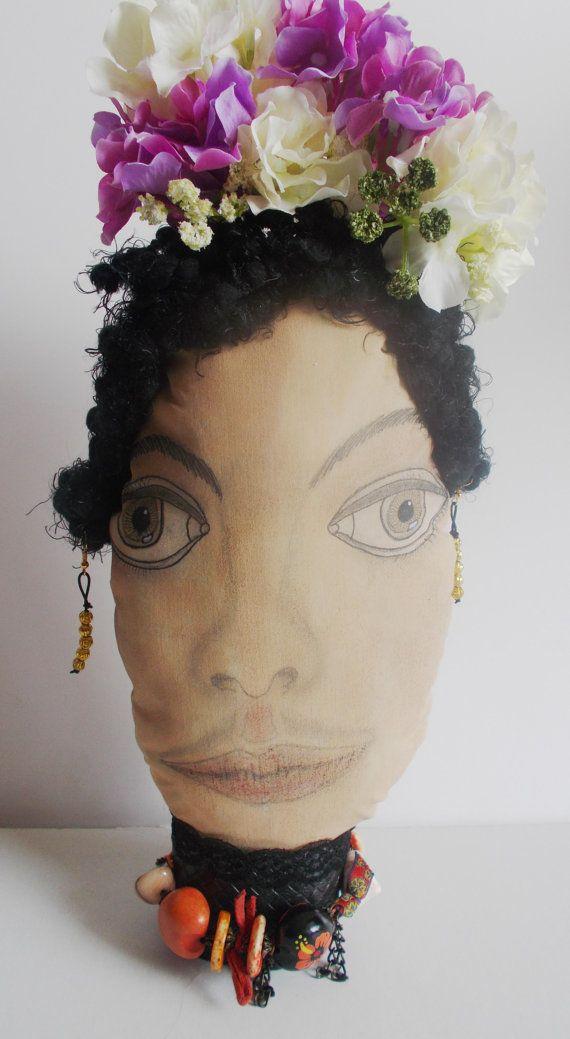 portraits series limited edition frida kahlo face decorative