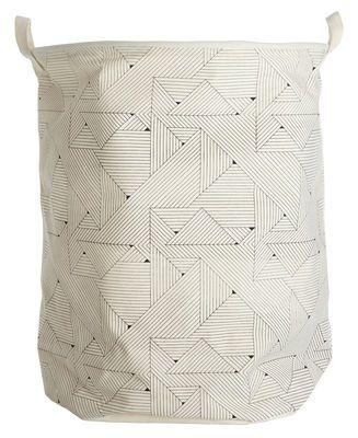 Corbeille à linge Triangular /Ø 40 x H 50 cm Motifs triangles - House Doctor - Décoration et mobilier design avec Made in Design