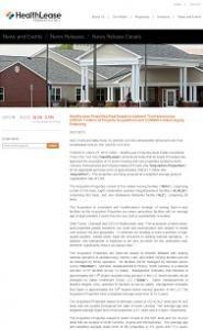 Healthlease ペンシルバニア州とバージニア州に介護施設購入