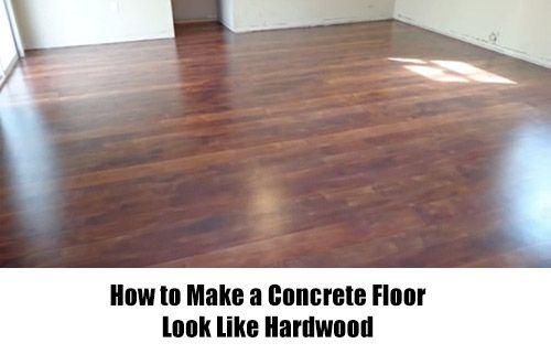 How to Make a Concrete Floor Look Like Hardwood