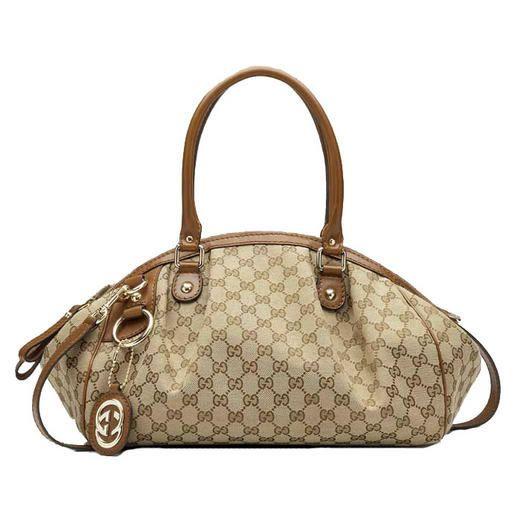 ce91ea7eb5145 Gucci Sukey Medium Boston Bag 223974 Light Brown Outlet...  LadiesStylish   Handbags