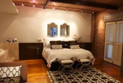Open plan bedroom from http://www.rocheledecorating.com.au