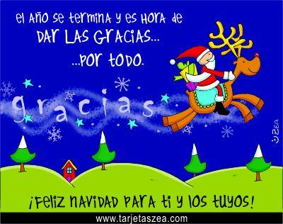 El a o se termina y es hora de dar las gracias por todo - La mejor tarjeta de navidad ...