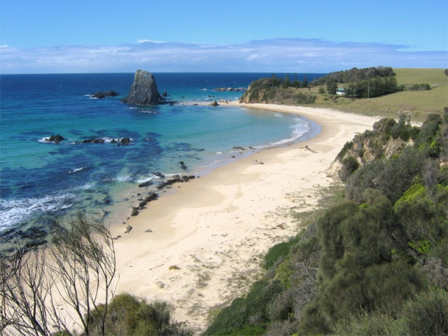 My pic of secluded beach just South of Narooma NSW