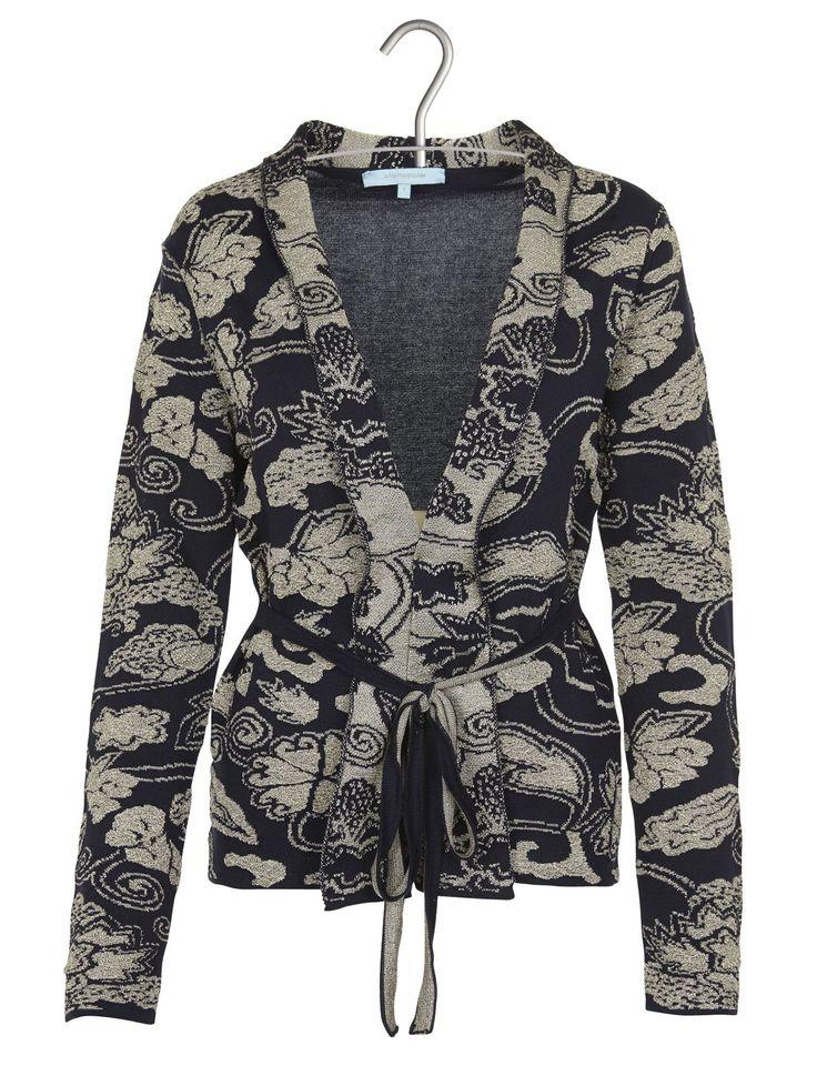Exceptionnel La Fee Maraboutee Place Des Tendances #9: E-shop Kimono En Maille Motifs Gaufrés Bleu La Fee Maraboutee Pour Femme  Sur Place